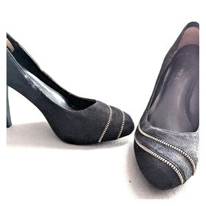 Paprika faux suede pumps/high heels size 10
